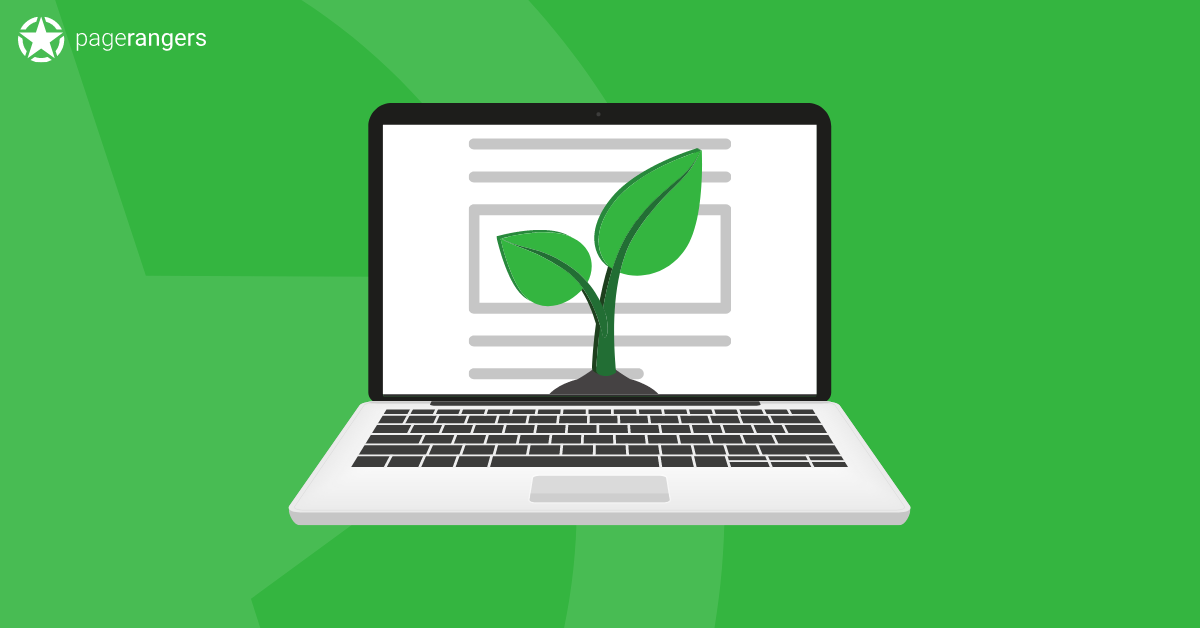Evergreen Content Plant on Laptop