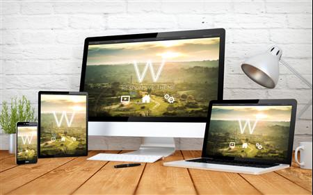 Responsive Design - Beispiel Webseite für PC, Tablet, Smartphone optimiert