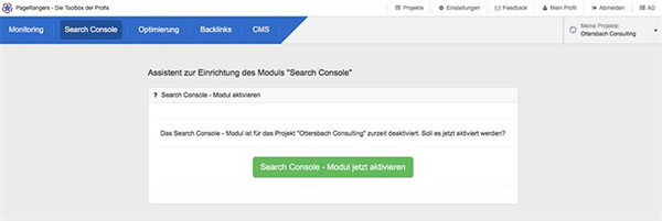 Search Console im SEO Tool