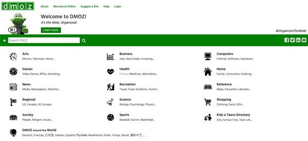 DMOZ.org Webseite