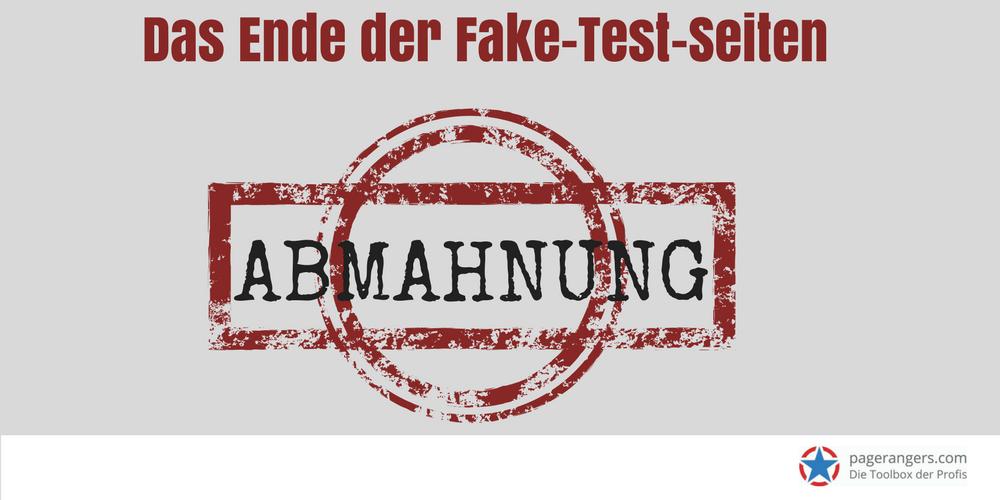 Bild mit Hinweis auf die Fake Test Seiten Abmahnung