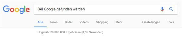 Bei Google gefunden werden - Mit der eigenen Homepage
