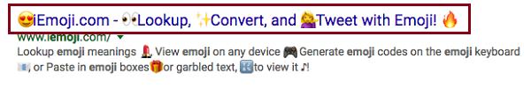 Emojis sorgen wieder für buntere und ansprechendere SERPs