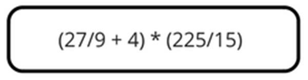 Die Rechenaufgabe oder Gleichung muss lediglich in die Suche eingegeben werden