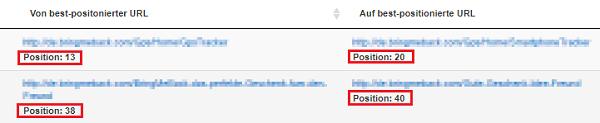 Durch das PageRanger Tool können URL Switches erkannt werden