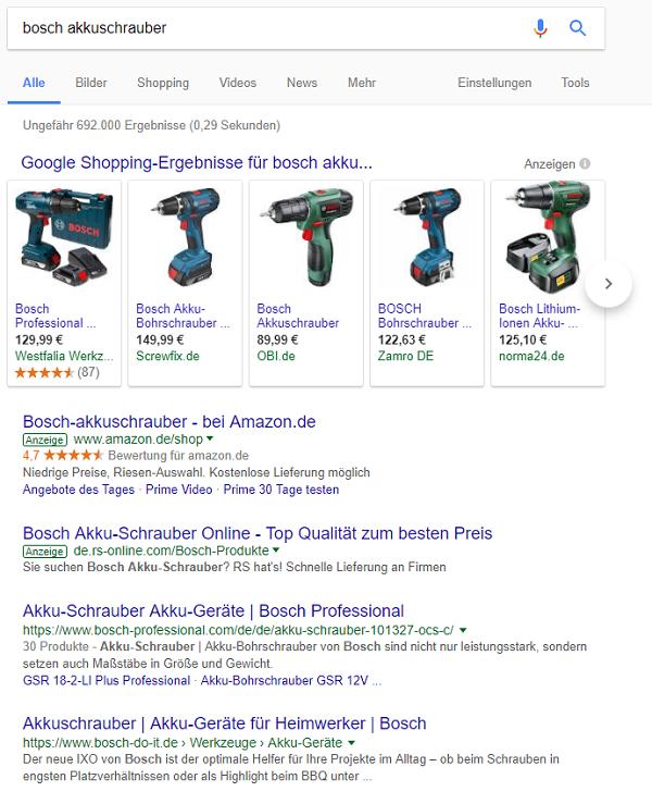 Dank des RankBrains werden ähnliche Ergebnisse zur Search Query geliefert