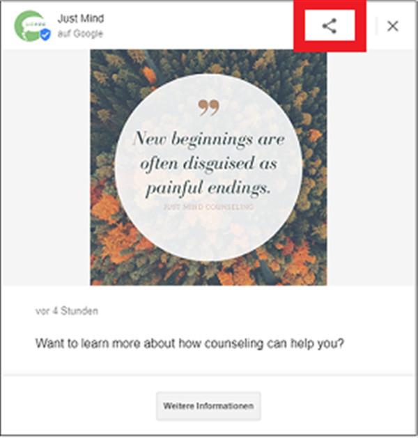 Google Posts mit Buttons und Unique URL teilen und Reichweite erhöhen