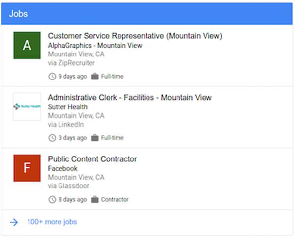 Mit Google Listings alle verfügbaren Jobs einsehen