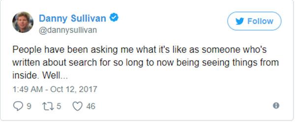 Danny Sullivan enthüllt seine Erkenntnisse auf Twitter