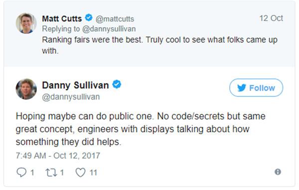 Auch Matt Cutts ist begeistert von den