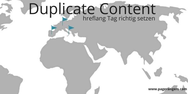 Duplicate Content - hreflang Tag richtig setzen