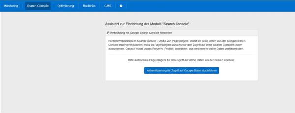 Serach Console mit PageRangers verbinden