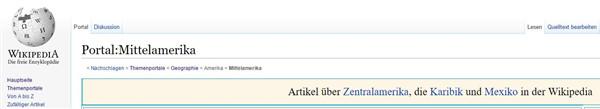 So sieht der Breadcrumb bei Wikipedia aus