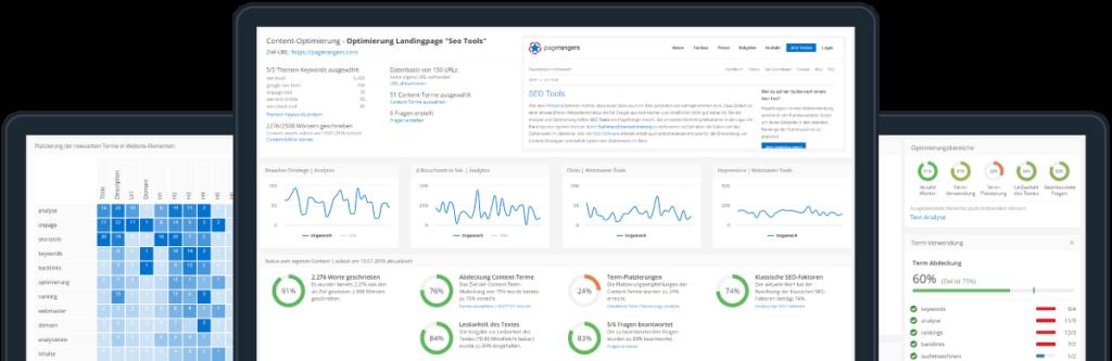 Die Content-Suite von PageRangers hilft beim Erstellen professioneller Text-Inhalte