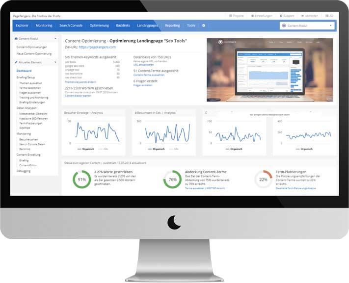 Das Dashboard der Content Suite