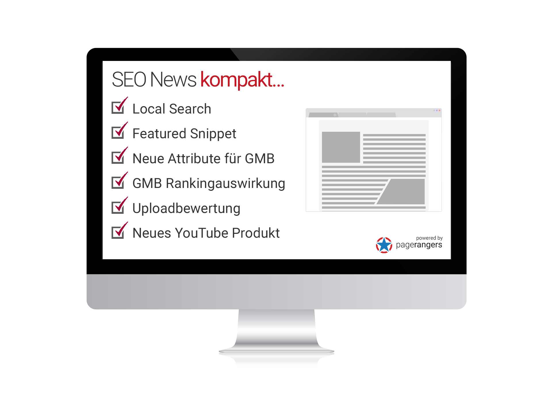 Local Search, Featured Snippet, Neue Attribute für GMB, GMB Rankingauswirkung, Uploadbewertung, Neues YouTube Produkt